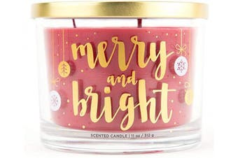 (Merry & Bright) - Aromascape Merry and Bright Candle, Red