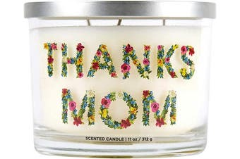 """(Thanks Mom) - Aromascape """"Thanks Mom"""" 3-Wick Scented Candle (Peach, Raspberry and White Lily), 330ml"""