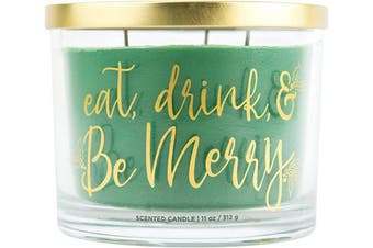 (Eat, Drink, and Be Merry) - Aromascape Eat, Drink and Be Merry Candle, Green