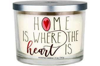 """(Home is Where the Heart Is) - Aromascape PT41417 """"Home is Where the Heart Is"""" 3-Wick Scented Candle (Brown Sugar Pecan, Cinnamon Bark, and Nutmeg), 330ml"""