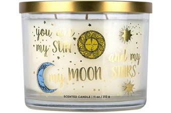 """(You are My You are My Sun, and My Moon and My Stars) - Aromascape PT41437 """"You are My You are My Sun, and My Moon and My Stars"""" 3-Wick Scented Candle (Lavender, Cedarwood and Amber), 330ml"""