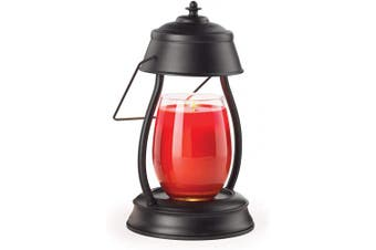 (Hurricane Black) - CANDLE WARMERS ETC Hurricane Candle Warmer Lantern for Top-Down Candle Melting, Black