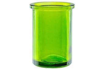 """(Lime) - Bluecorn Beeswax 50% Recycled Glass Candle Holder (2¼-Inch Interior Diameter x 3¾-Inch"""" Tall) - Lime"""