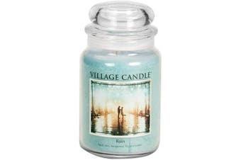 Village Candle Rain 770ml Glass Jar Scented Candle, Large