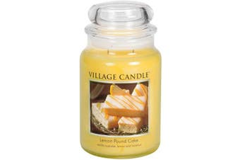 Village Candle Lemon Pound Cake 770ml Glass Jar Scented Candle, Large