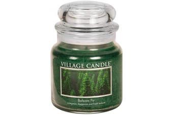 (Medium (470ml)) - Village Candle Balsam Fir 470ml Glass Jar Scented Candle, Medium