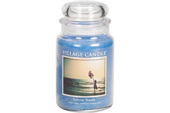 Village Candle Summer Breeze 770ml Glass Jar Scented Candle, Large