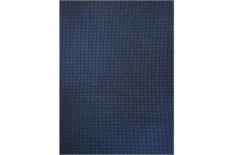 (3pc Set, Navy Blue) - Mk Collection 3pc for Sure Will Fit Sofa, Love Seat, Chair Slipcover Solid Navy Blue New