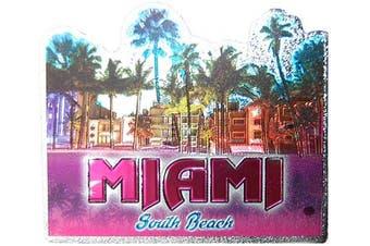 (Miami Beach) - Miami Beach Colourful Foil Souvenir Magnet