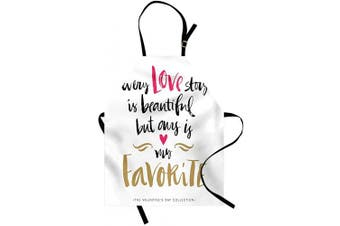 (Black Pink) - Ambesonne Valentines Day Apron, Every Love Story is Beautiful but Ours is My Favourite Romantic Idea, Unisex Kitchen Bib with Adjustable Neck for Cooking Gardening, Adult Size, Black Pink