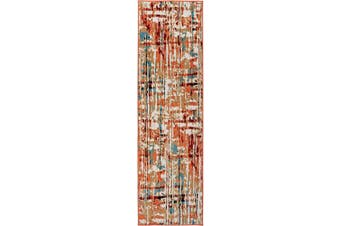 (0.6m X 2.1m, 0777a Multi) - Antep Rugs 777 Pastel Collection Contemporary Polypropylene Indoor Area Runner Rug (Multicolor, 0.6m x 2.1m)