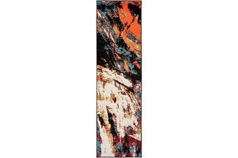 (0.6m X 2.1m, 0666a Multi Pastel) - Antep Rugs 666PA Pastel Collection Contemporary Polypropylene Indoor Area Runner Rug (Multicolor Pastel, 0.6m x 2.1m)