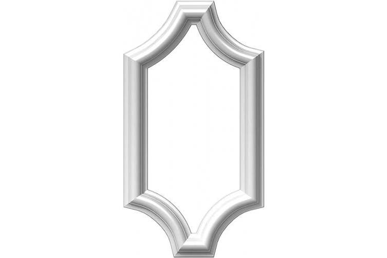 "(8""W x 16""H x 1/2""P, Single Wall Panel) - Ekena Millwork PNL08X16AS-02 20cm W x 41cm H x 1.3cm P Ashford Moulded Scalloped Wainscot Wall Panel"