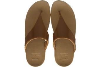(3 UK, Beige Ss18 Light Tan 592) - Fitflop Women's Lulu Toe Post-Leather Open Sandals