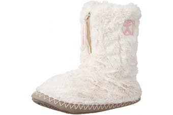 (5/6 UK, Cream Moonrock) - Bedroom Athletics Women's Monroe Faux Fur Slipper Boots