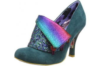 (5 UK, Green Green Glitter Di) - Irregular Choice Women's Flick Flack Closed Toe Heels
