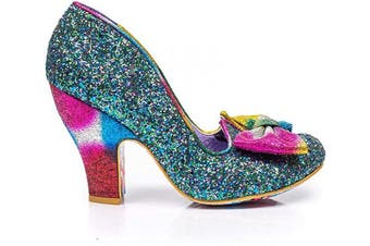 (6.5 UK, Blue Multi Glitter) - Irregular Choice - Nick of TIME - Blue Multi Glitter