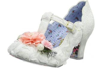 (8 UK, White White a) - Irregular Choice Women's Carriage Ride Wedding Shoes