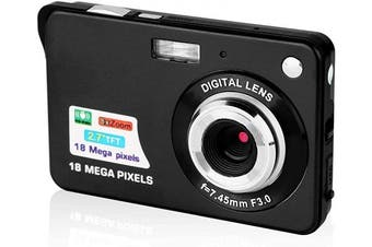 (CDC3-Black) - 6.9cm Digital Camera, HD Camera for Backpacking, Mini Digital Camera Pocket Cameras Digital with Zoom, Compact Cameras for Photography