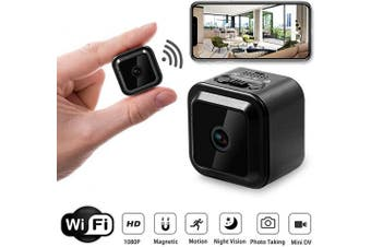 WiFi Mini Spy Camera Wireless Hidden Cam, 1080P FHD Portable Camera with Motion Detection and Night Vision for Indoor Outdoor