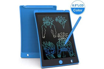 (Blue) - Arolun LCD Writing Tablet, 22cm Colourful Screen Digital eWriter Electronic Graphics Tablet Portable Writing Board Handwriting Doodle Drawing Pad for Kids Adult Home School Office(Blue)
