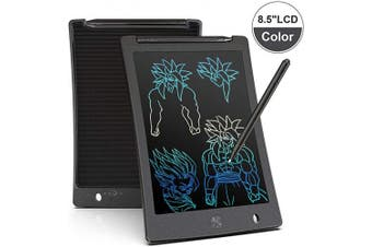 (Black) - Arolun LCD Writing Tablet, 22cm Colourful Screen Digital eWriter Electronic Graphics Tablet Portable Writing Board Handwriting Doodle Drawing Pad for Kids Adult Home School Office(Black)