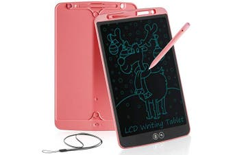 (12 inch, Pink) - bhdlovely LCD 30cm Writing Tablet for Kids Learning Writing Board Partial Erasure Drawing Pad Smart Doodle Drawing Board for Home School Office Portable Electronic Digital Hand Writing Pad(Pink)