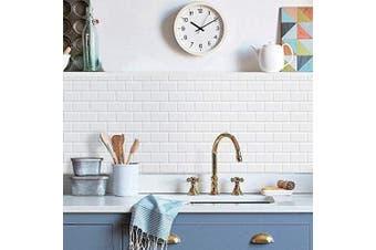 (A00) - Art3d 10-Sheets Peel and Stick Tile Backsplash - 30cm x 30cm Premium Anti Mould Kitchen Backsplash Peel and Stick Tile, White