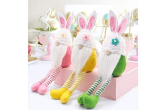 (Easter Gnomes) - CiyvoLyeen Spring Gnomes Easter Gnomes Easter Bunny Gifts Rabbit Tomte Easter Collectible Figurine Nordic Swedish Nisse Scandinavian Tomte Elf Dwarf Home Household Decor Set of 3