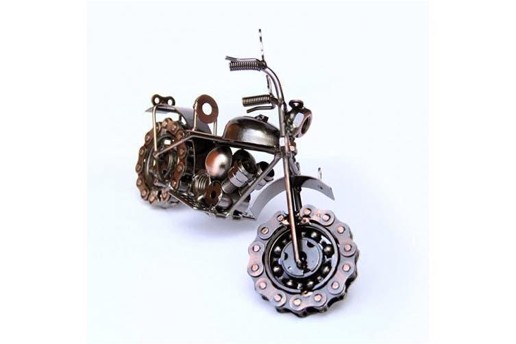 (Copper Chopper) - Trebisky Collectible Art Sculpture Die Cast Harley Davidson Scrap Metal Motorcycle (Copper Chopper)