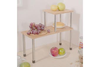 (Rectangle) - Ollieroo Kitchen Counter Storage Shelf, Bathroom Sink Counter Cabinet Organiser (Rectangle)