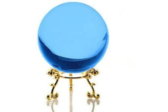 Amlong Crystal Aqua Crystal Ball 60mm (2.3 inch) Including Golden Flower Stand and Gift Package