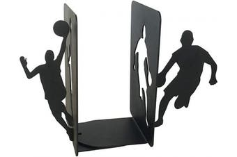 (Basketball Black) - PandS Basketball Bookends - Decorative Book Ends - Creative Bookends for Heavy Books - Heavy Duty Bookends