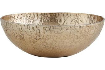 Creative Brands 47th & Main Ornate Aluminium Round Bowl, Small, Gold