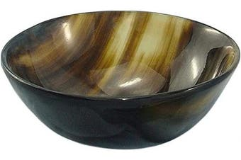 """(5""""w x 2"""" Depth) - Mythrojan Hand Crafted Small Serving Horn Bowl – Polished Finish"""