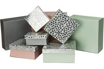 (Classy Lids) - ALEF Elegant Decorative Themed Nesting Gift Boxes -8 Boxes- Nesting Boxes Beautifully Themed and Decorated! (Classy Lids)