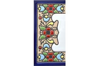 (Edge, Border) - House letters 7.6cm . Handpainted house letter tiles for signs, addresses and names. Address numbers for houses. House address numbers and letters. Design FLORES MINI 7.3cm x 3.5cm (EDGE BORDER)