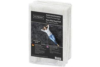 (2.4m x 3m / 244x305cm) - B.PRIME 2.4m x 3m / 244x305cm Universal Non-Slip Rug Underlay for Hard Floors.