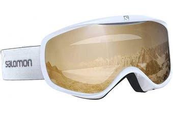 (One Size, White) - SALOMON Women's Sense Access Ski Goggles