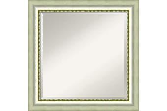 (Glass Size 20x20, Vegas Silver) - Amanti Art Framed Mirrors for Wall | Vegas Silver Mirror for Wall | Solid Wood Wall Mirrors | Medium Wall Mirror 60cm x 60cm .