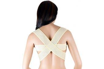 (Large) - ASSISTICA® Medical Posture Corrector, Back Support Brace, Improve & Fix Round Shoulder (Large)