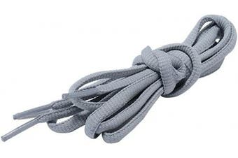 (69 cm, Gray) - Shoelaces Oval Half Round Shoes Lace (2 Pairs) - for Sneakers and Casual shoes Shoelaces Replacements