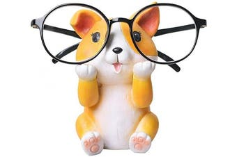 (Corgi) - GUIRONG Fun Eyeglass Holder Display Stands - Home Office Decorative Glasses Accessories (Corgi)