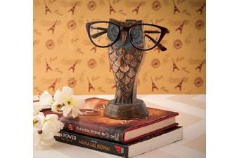 (Gray) - Eximious India Owl Eyeglass Holder Spectacle Holder Wooden Handmade Bedside Display Home and Office Decor Desk Eyeglasses Holder Glasses Gifts for Kids Him Her Mom Dad Eyeglass Retainers for Men