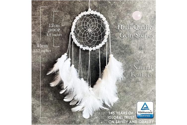 White Dream Catchers For Bedroom Decor White Colour Native American Handmade Home Wall Hanging Decoration Ornament