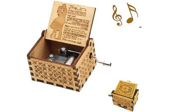 (Wood- to Girlfriend) - Aokely Music Box Hand Crank Musical Box Vintage Wood Carved Sunshine Musical Box Crafts Gifts for Birthday/Christmas/Valentine's Day (to Girlfriend)