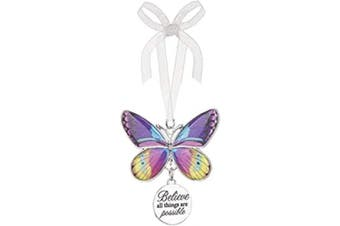 (Believe All Things Are Possible Ea13537) - Ganz Home Decor Christmas/Spring Blissful Journey Butterfly Ornament (Believe All Things are Possible EA13537)