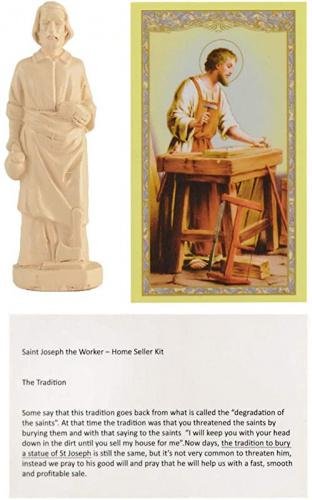 Pilot Diary Saint Joseph Statue House Seller Home Selling Kit with Instructions and Prayer Card Best Religious Gifts