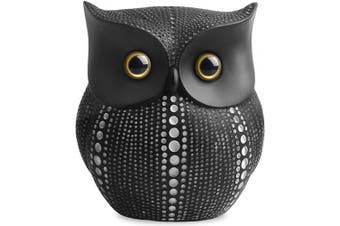 (Black) - Owl Statue Decor (Black) Small Crafted Buho Figurines for Home Decor Accents, Living Room Bedroom Office Decoration, Buhos Bookself TV Stand Decor - Animal Sculptures Collection BFF for Owls Lovers