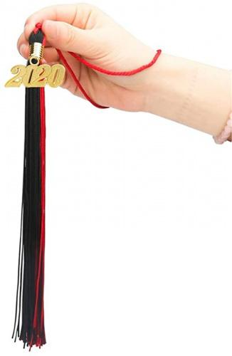 GraduationRoyal 9 inch Graduation Tassel Red with Gold 2020 Year Charm